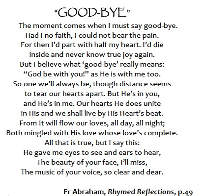 Poems Saying Goodbye to Friends